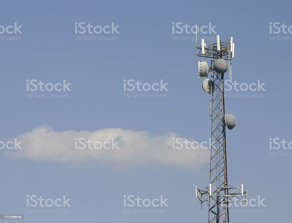 Cellular Tower royalty-free stock photo