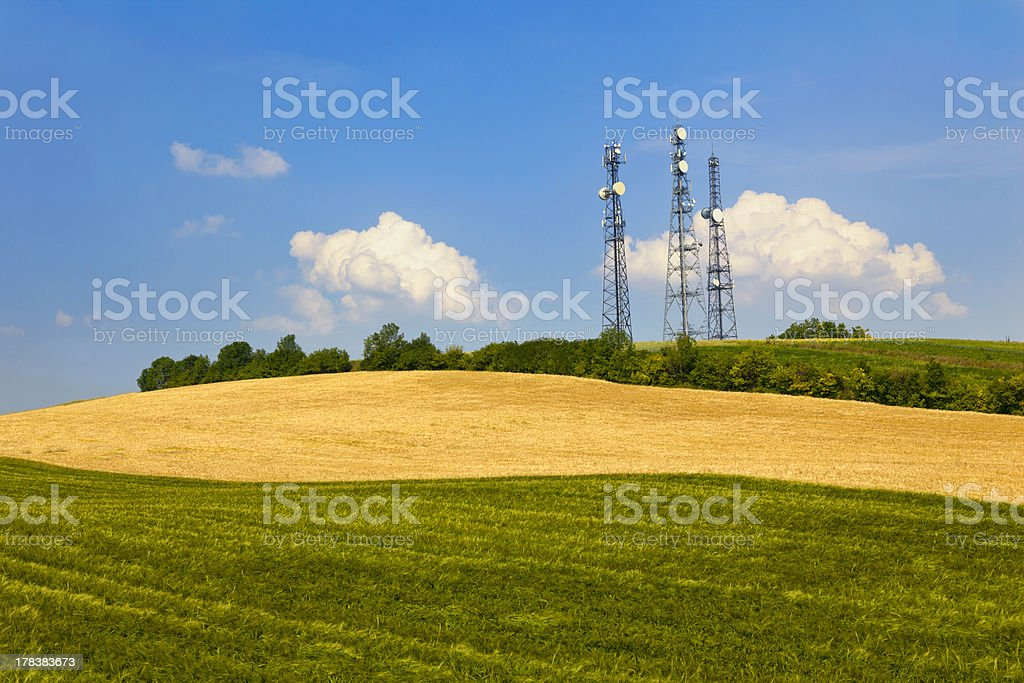 Cellular Towers - GSM, Telecomunication stock photo