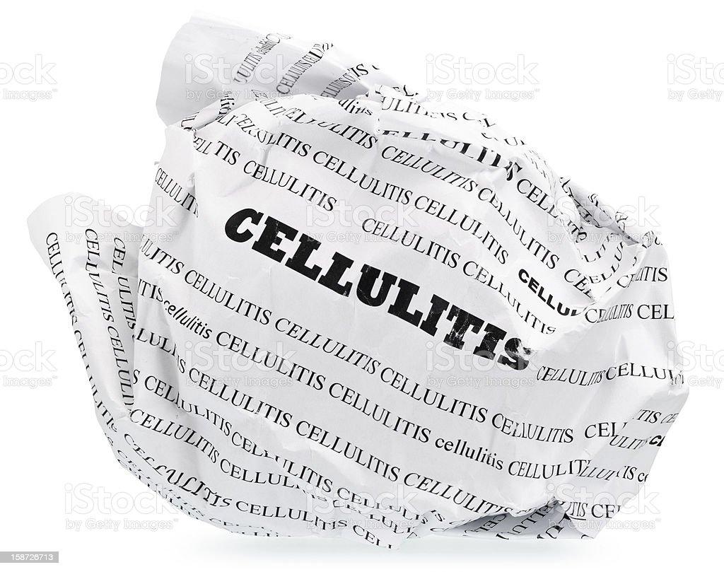 Cellulite is nervous? Throw stock photo
