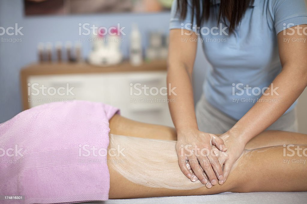 Cellulite massage stock photo