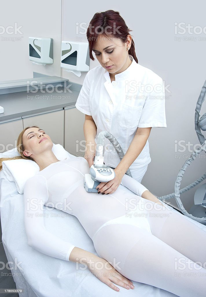 cellulite treatment therapy stock photo