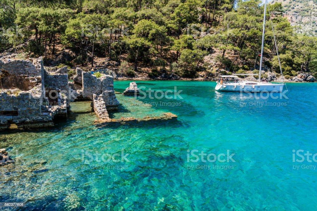 Celopatra bath from Göcek Bay. Fethiye / Turkey. foto stock royalty-free
