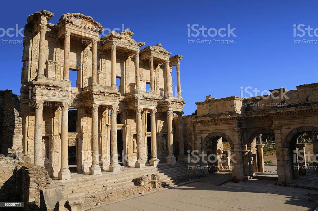 Celsius Library at Ephesus royalty-free stock photo