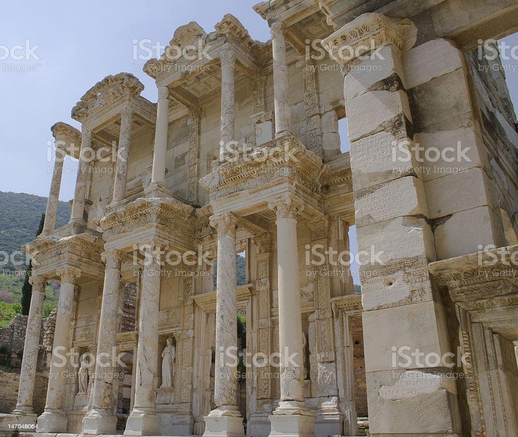 Celsius Library in Ephesus stock photo