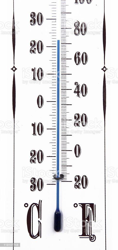 Celsius vs. Fahrenheit stock photo