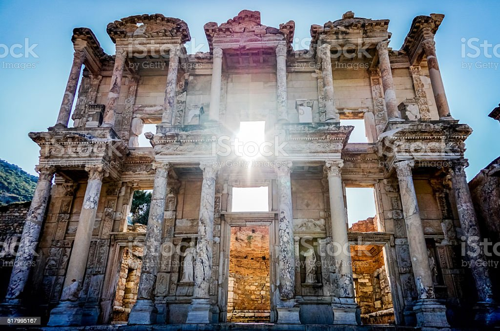 Celsus Library, Ephesus stock photo