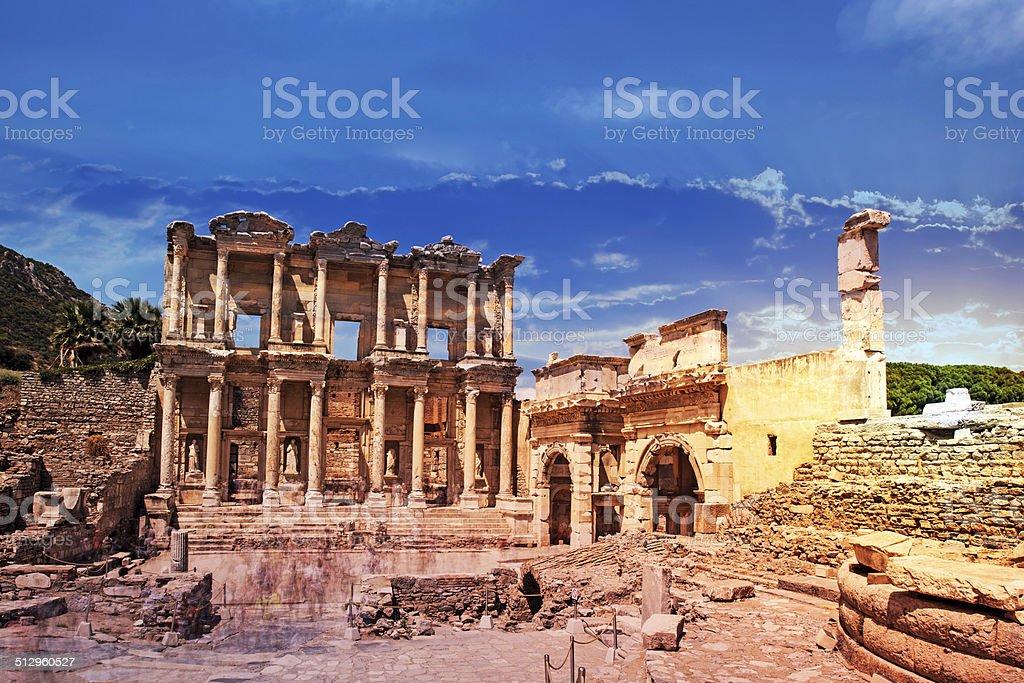 Celsus Library in Ephesus museum, Turkey stock photo