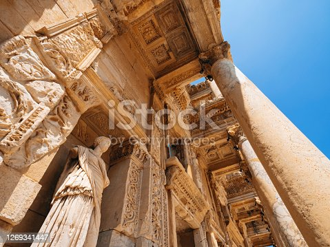 Old Ruin, Summer, Ephesus, Celsus Library, Turkey - Middle East