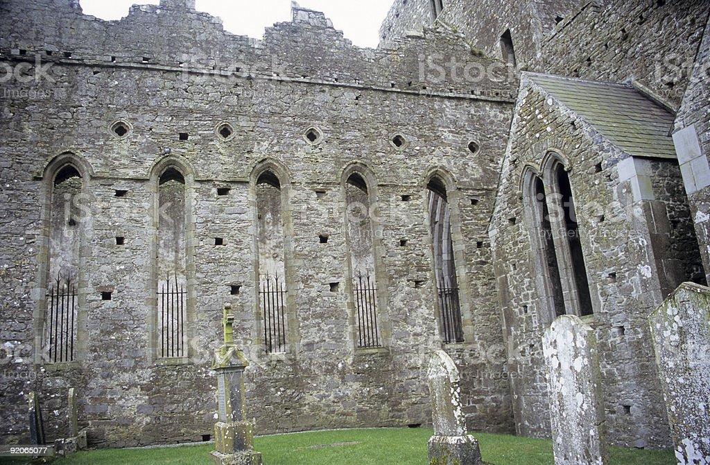 Celtic Cemetery stock photo
