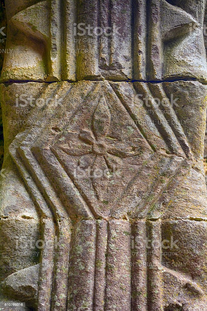 Celtic column, Kilkalmedar, Ireland stock photo