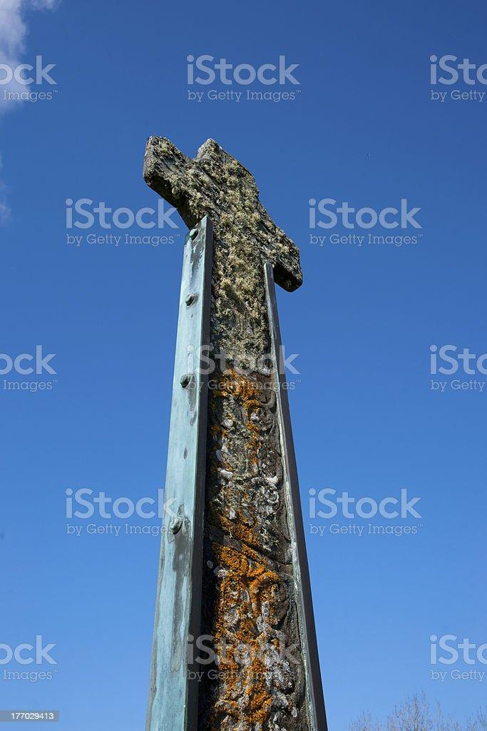 Celtic Cross against blue sky royalty-free stock photo
