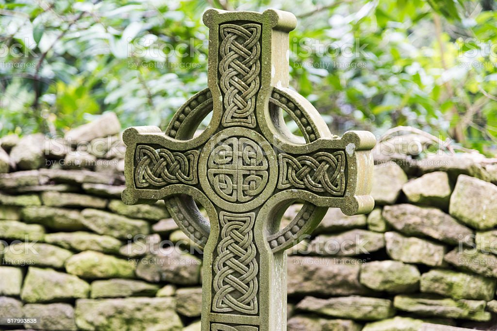 Celtic Cross Closeup stock photo