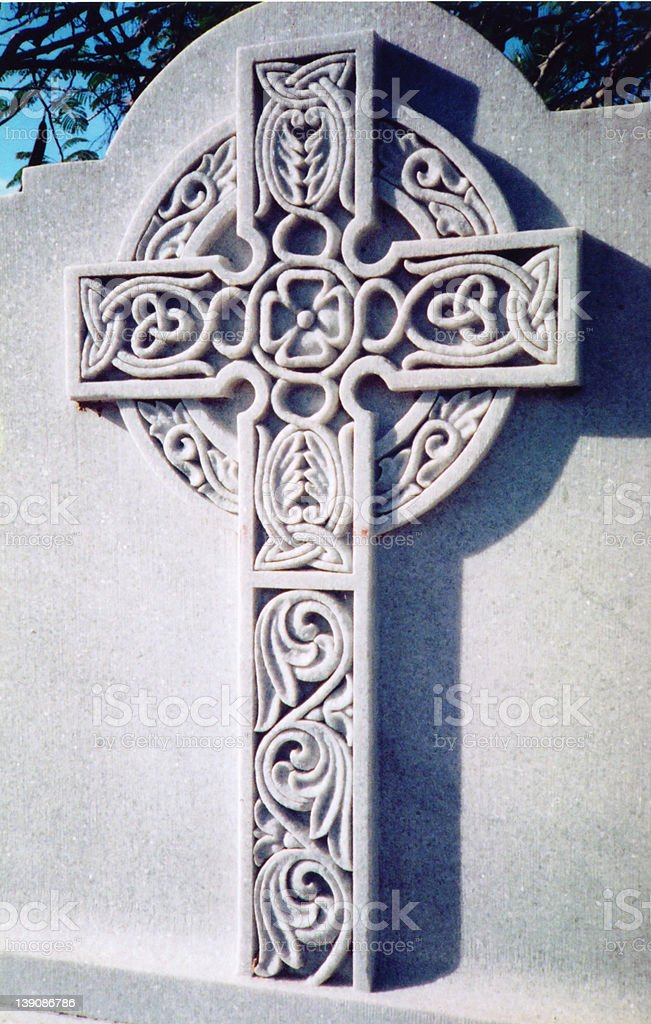 celtic cross gravestone royalty-free stock photo