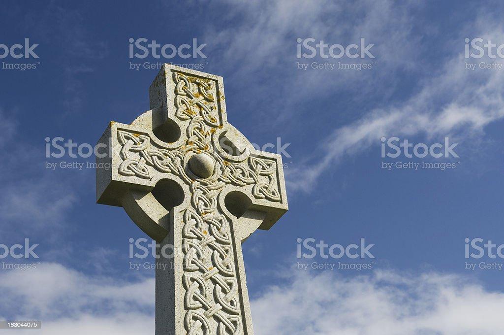Celtic cross, Isle of Iona stock photo