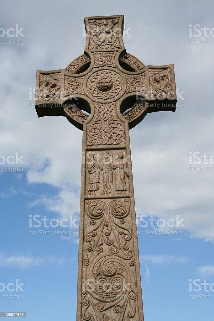 Celtic cross, Necropolis stock photo