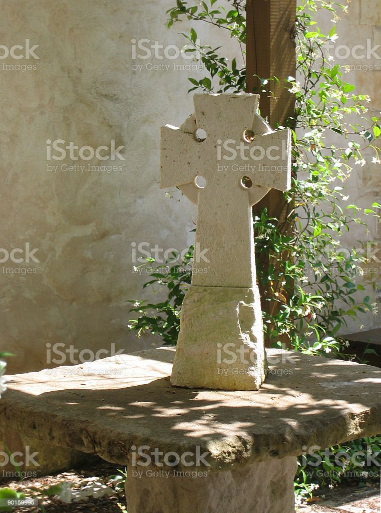 Celtic Cross of Stone royalty-free stock photo