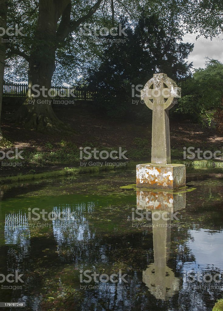 Celtic Cross Reflection royalty-free stock photo
