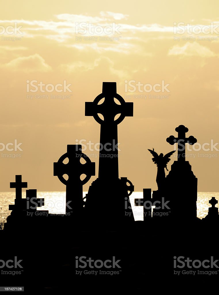 Celtic Crosses stock photo
