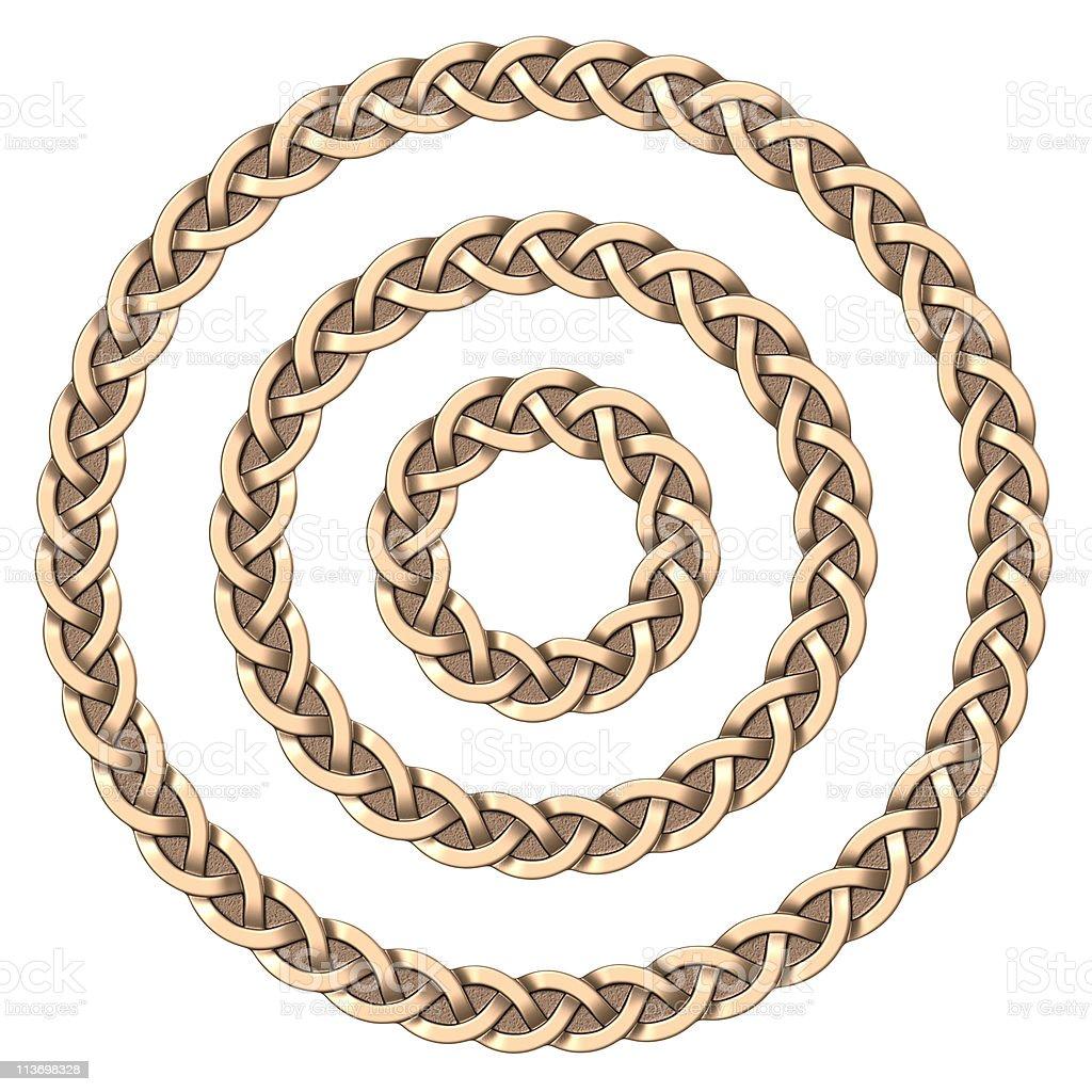 Celtic frame (circle) stock photo