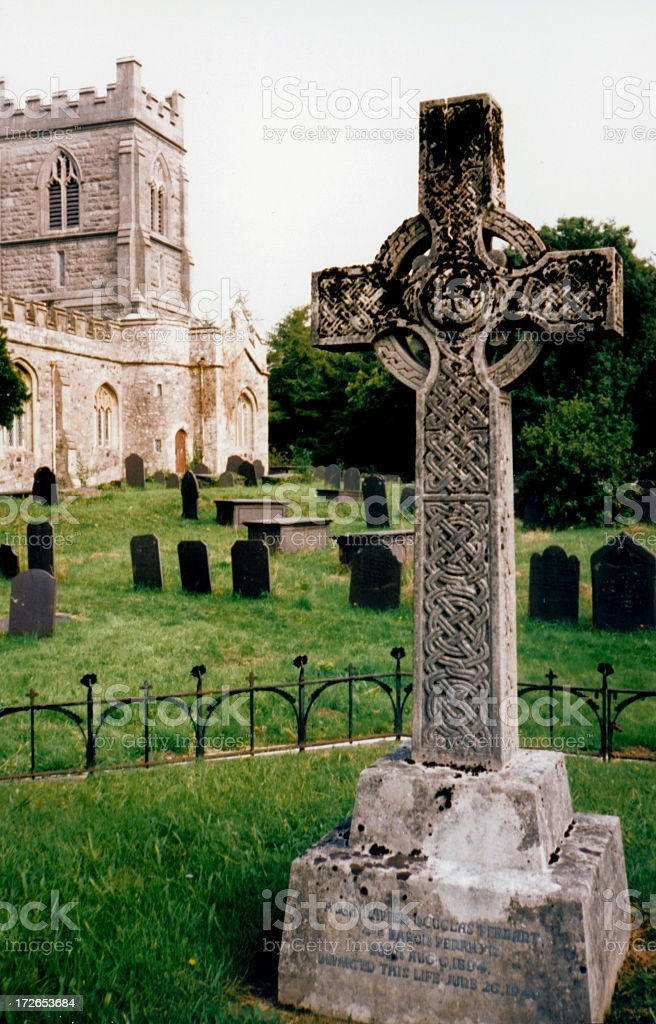 celtic graveyard I stock photo