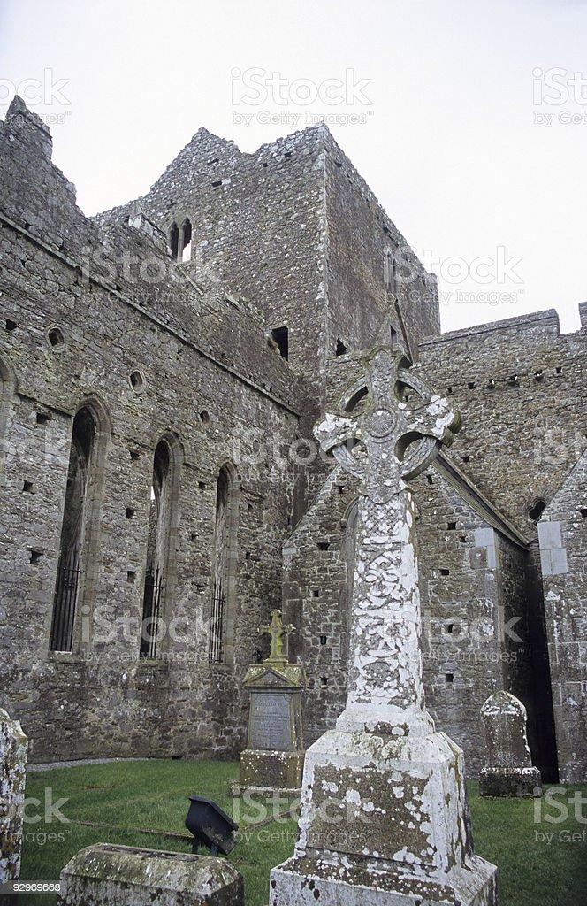 Celtic Graveyard stock photo