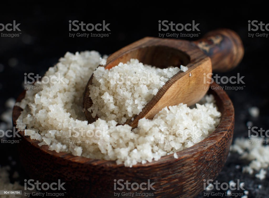 Celtic Grey Sea Salt From France Stock Photo - Download