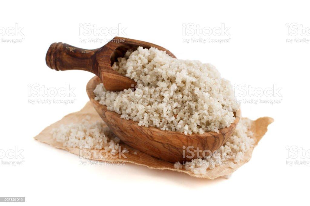Celtic Grey Sea Salt from France stock photo