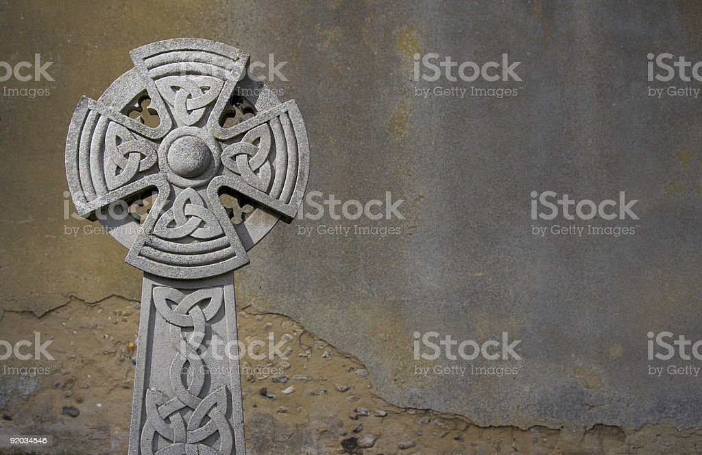 celtic headstone royalty-free stock photo