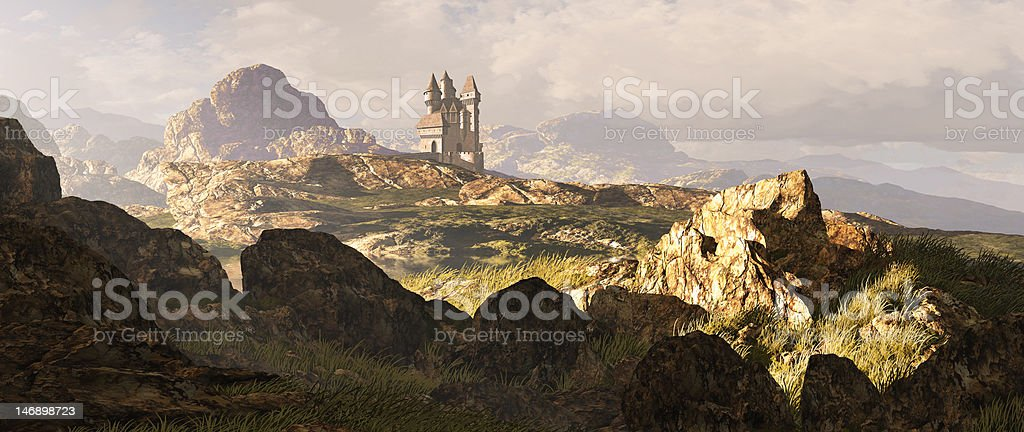 Celtic Highlands Landscape stock photo