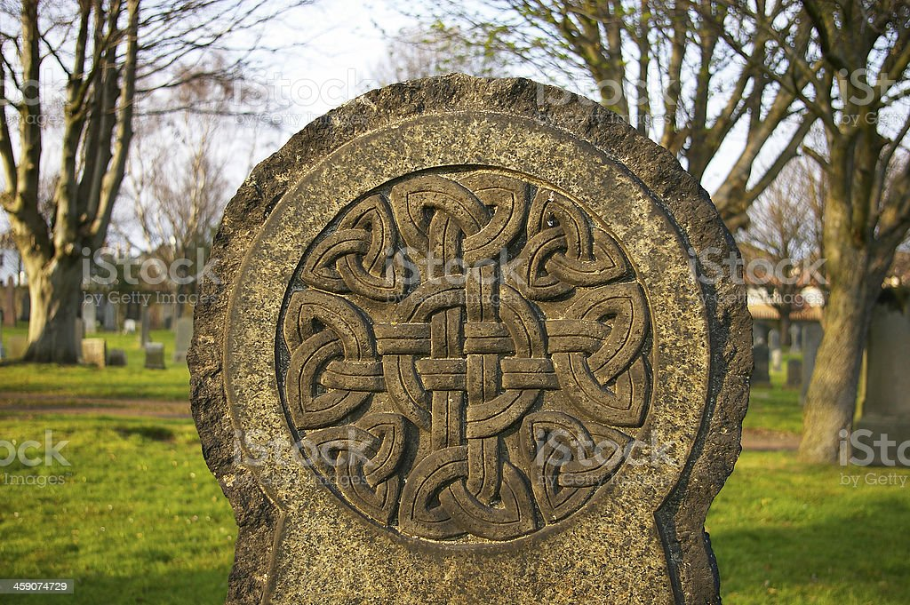 Celtic knot symbol stock photo