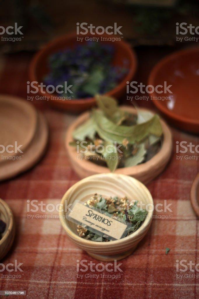 celtic medicinal herbs - fotografia de stock