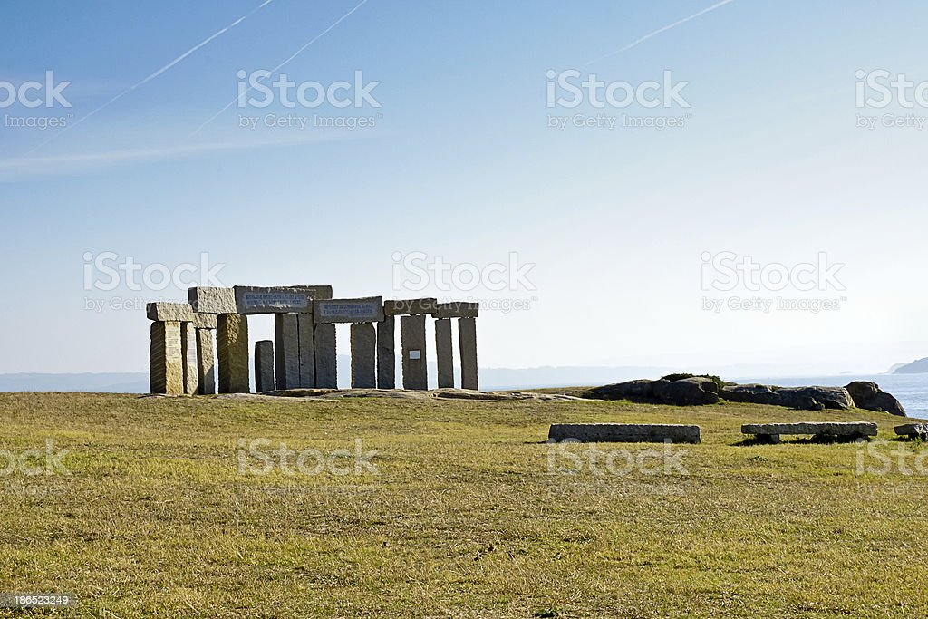 celtic monuments in A Coruna, Spain royalty-free stock photo