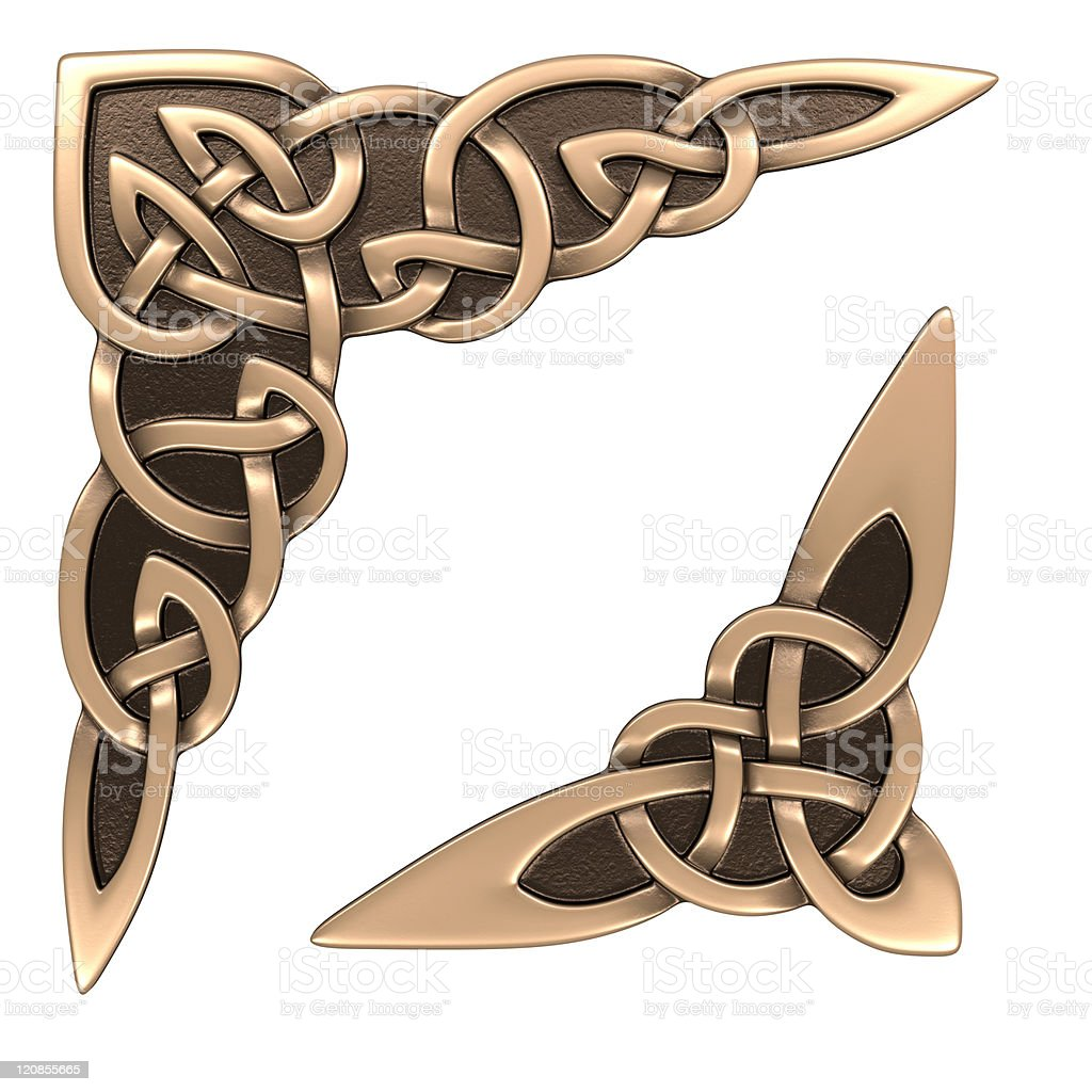 Celtic ornament (corner) stock photo