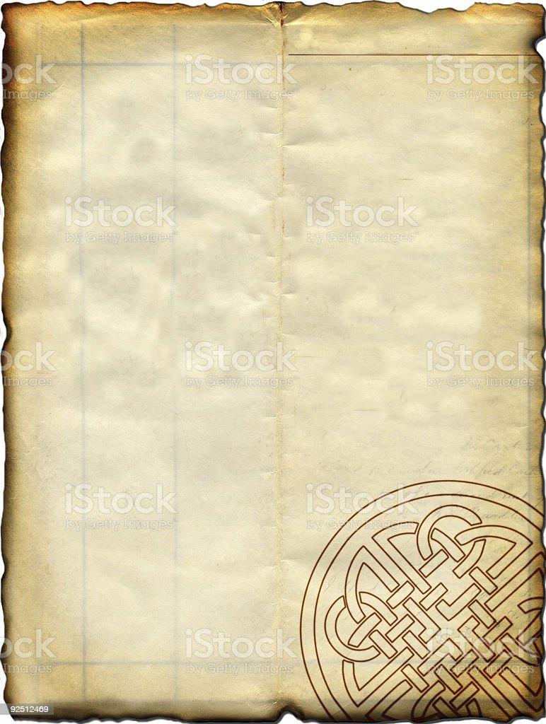 Celtic Parchment stock photo
