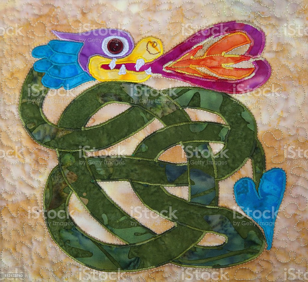 Celtic Quilting stock photo