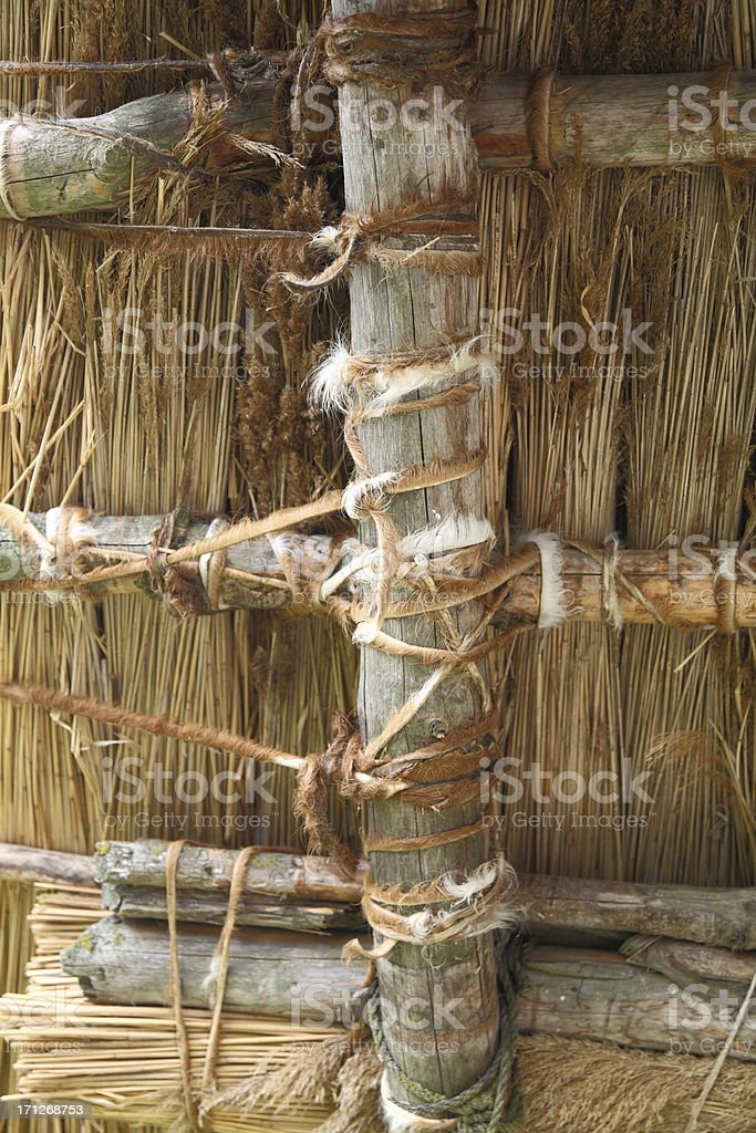 celtic roof construction - reconstruction royalty-free stock photo