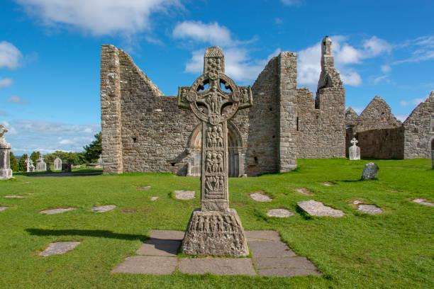 Celtic ruins in Ireland stock photo