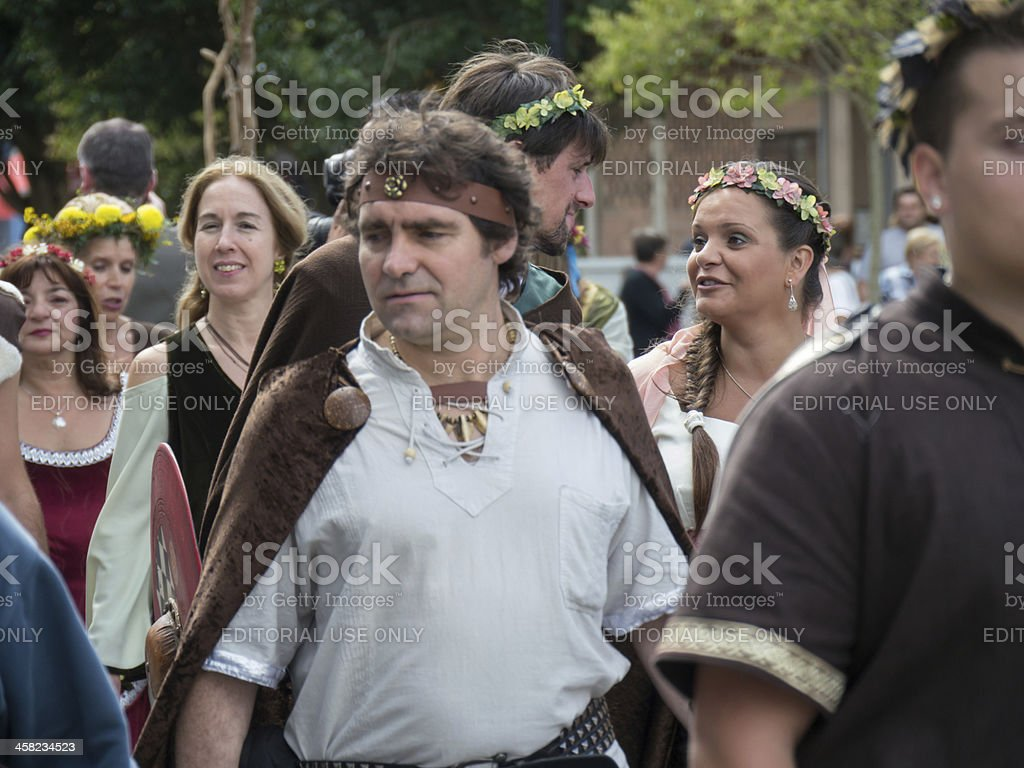 Cedeira, Spain - August 25, 2012: Celtic wedding royalty-free stock photo