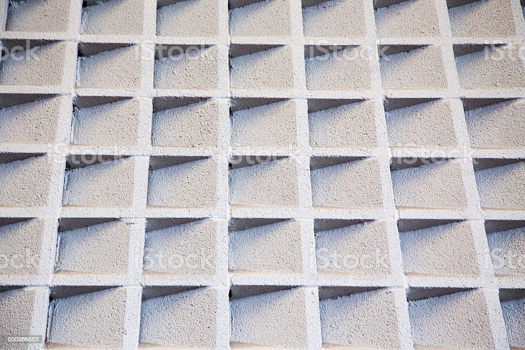 Cement acoustic wall stock photo