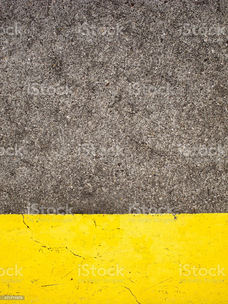Cement and Yellow Paint royalty-free stock photo