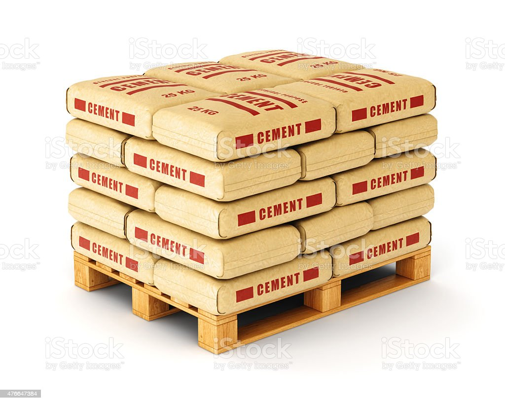 cement bags on pallet stock photo more pictures of 2015 istock. Black Bedroom Furniture Sets. Home Design Ideas