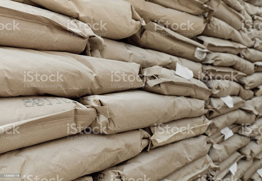 Cement Bags stock photo