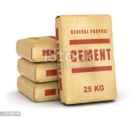 Cement Bags Pile Stock Photo & More Pictures of 2015 | iStock