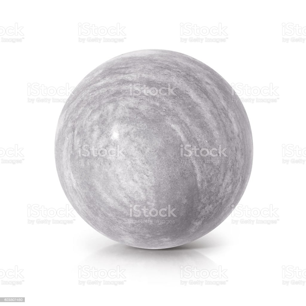 Cement ball 3D illustration stock photo