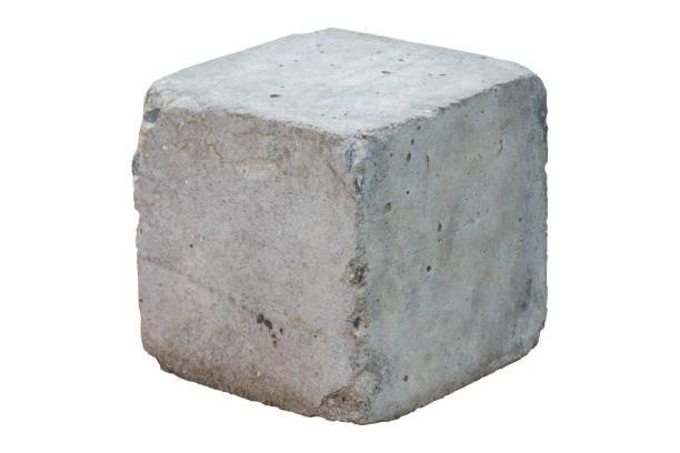 cement block isolated on white background. clipping path - block shape stock pictures, royalty-free photos & images