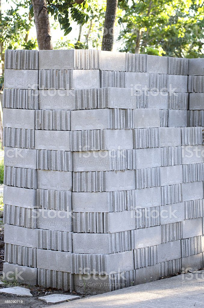 Cement block texture stock photo