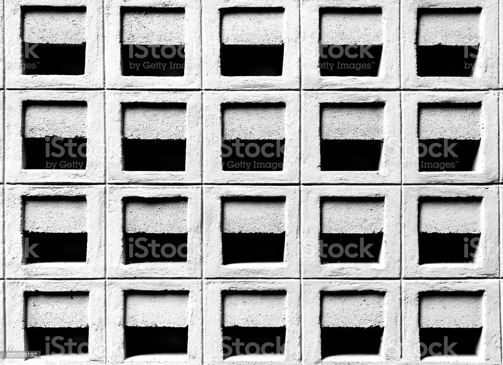 Cement block vent. royalty-free 스톡 사진