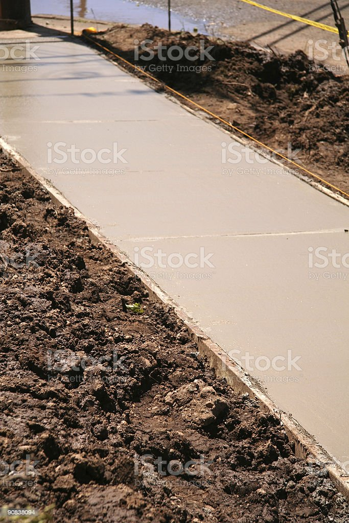 Cement Construction Work royalty-free stock photo