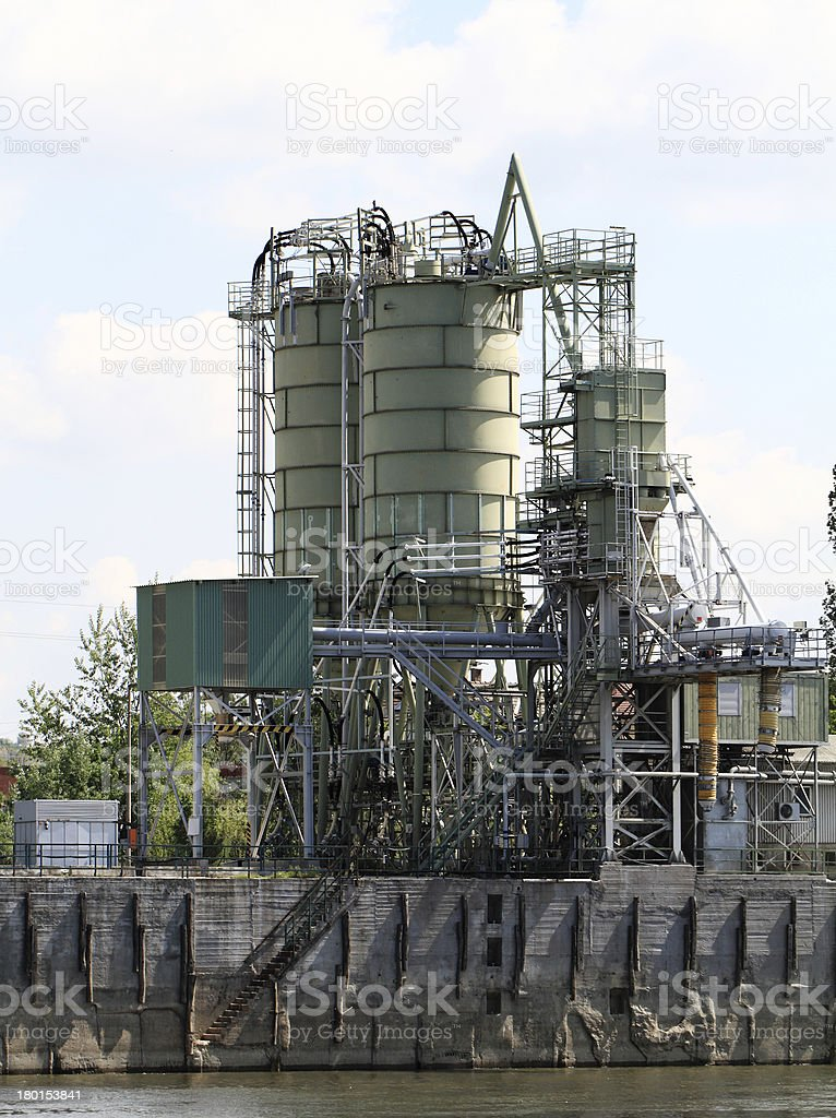Cement factory machinery royalty-free stock photo