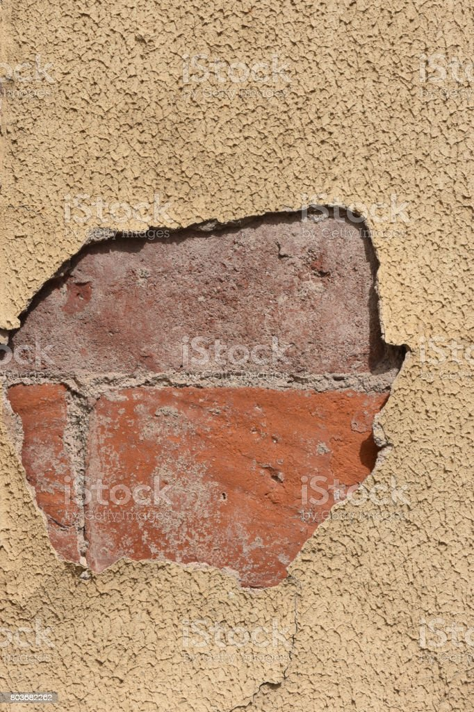 Cement falling stock photo